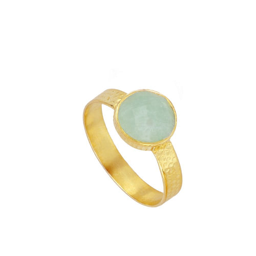 Julie Turquoise Gold Ring