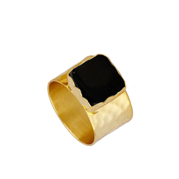 Anillo Zia Black Gold