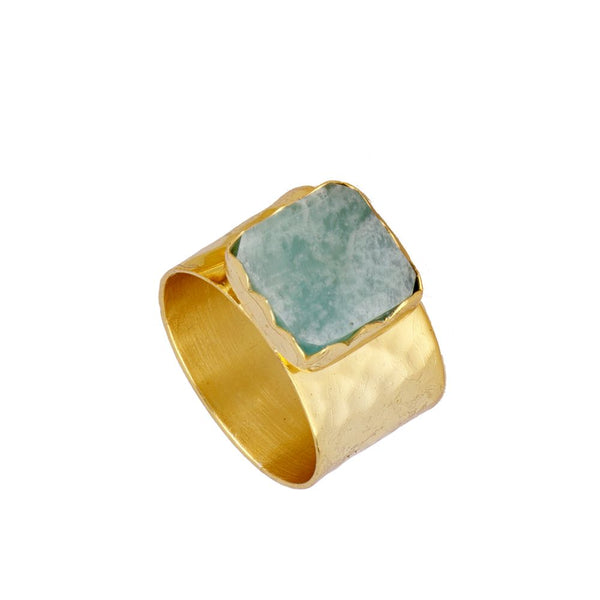 Anillo Zia Blue Gold