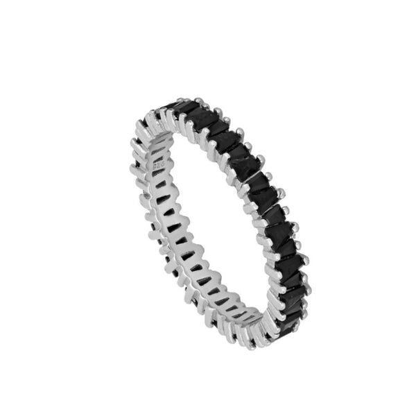 Anillo Bright Black Silver