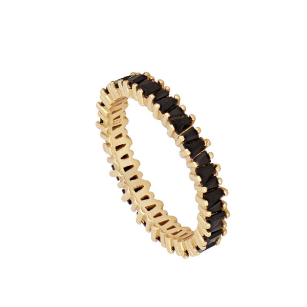 Anillo Bright Black Gold