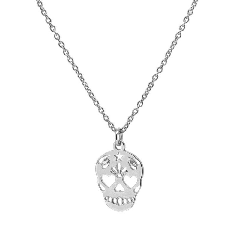 Collar Calavera Mini Silver
