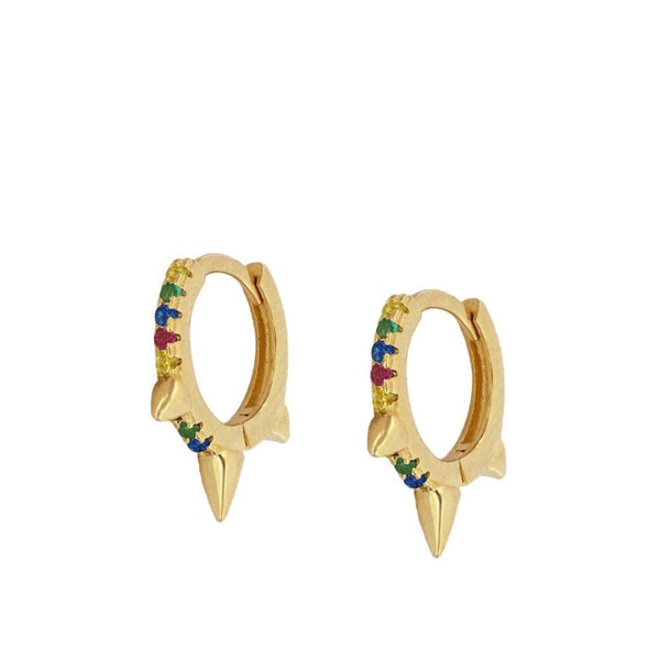 Pendientes Colours Rock Gold