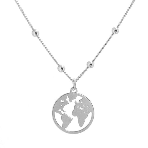 Collar World Ball Silver