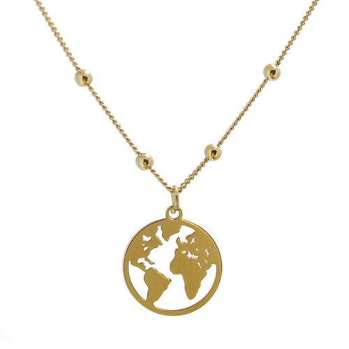 Collar World Ball Gold