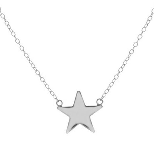 Leila Star Silver Necklace