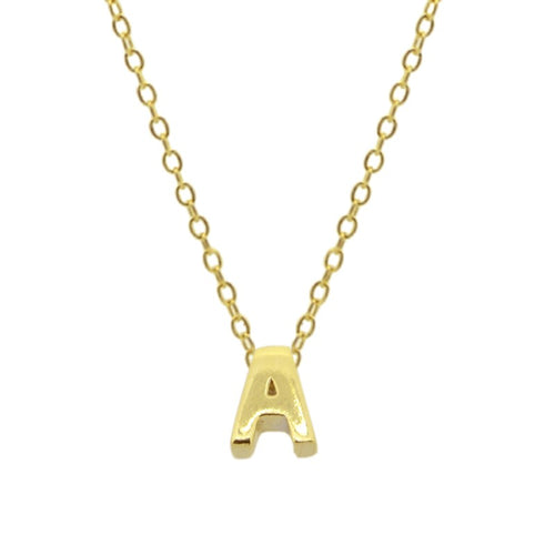 Mini Letter Gold Necklace
