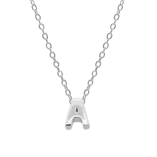 Mini Letter Silver Necklace