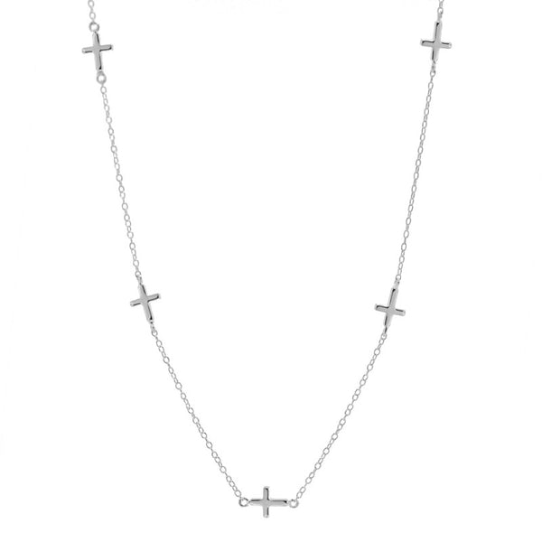 Collar Multi Cross Silver