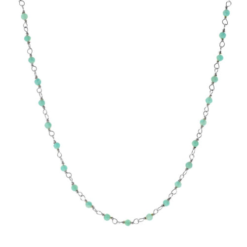 Amazonite Silver Necklace