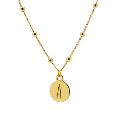 Dina Letter Gold Necklace