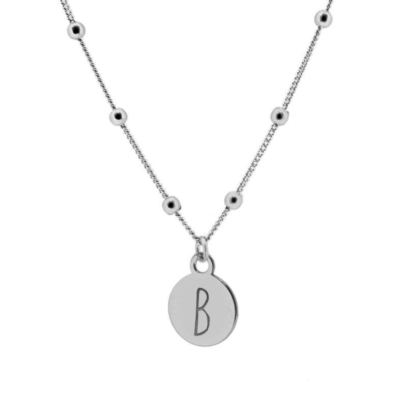 Dina Letter Silver Necklace