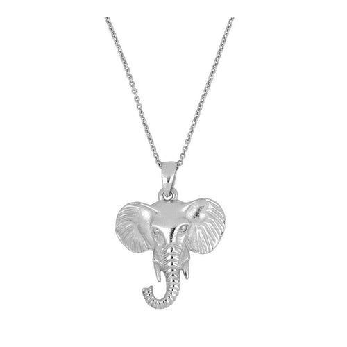 Collar Big Elephant Silver