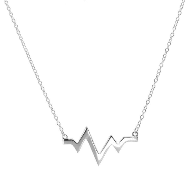 Collar Heartbeat Silver