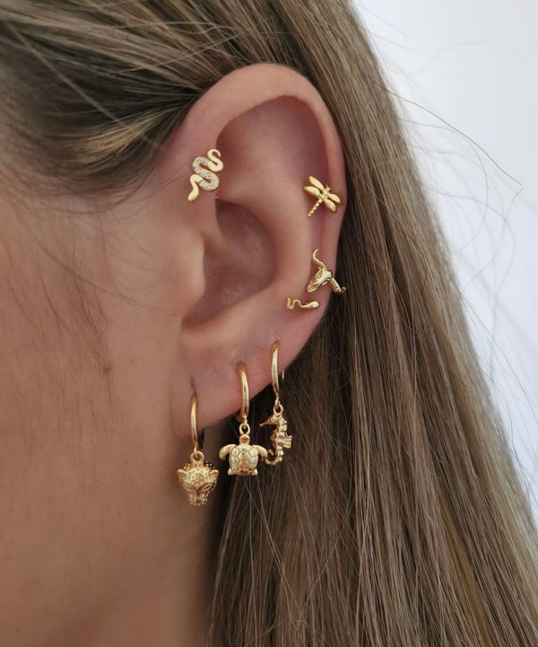 Pendientes Cool Snake Gold