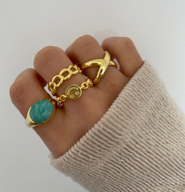 Anillo Ivy Blue Silver