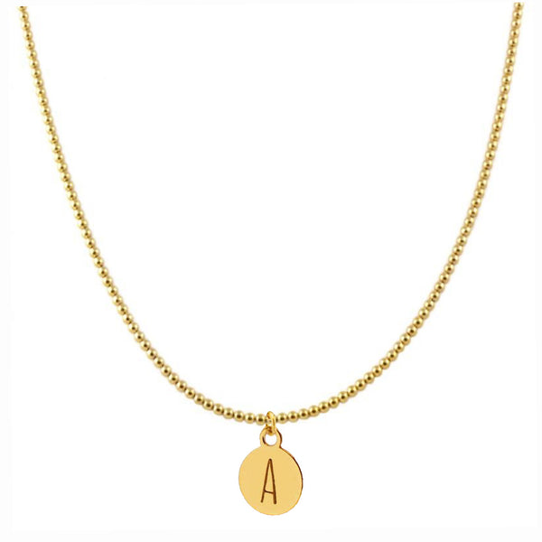 Collar Bold Letter Gold