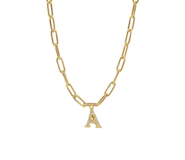 Collar Tadea Letter Gold