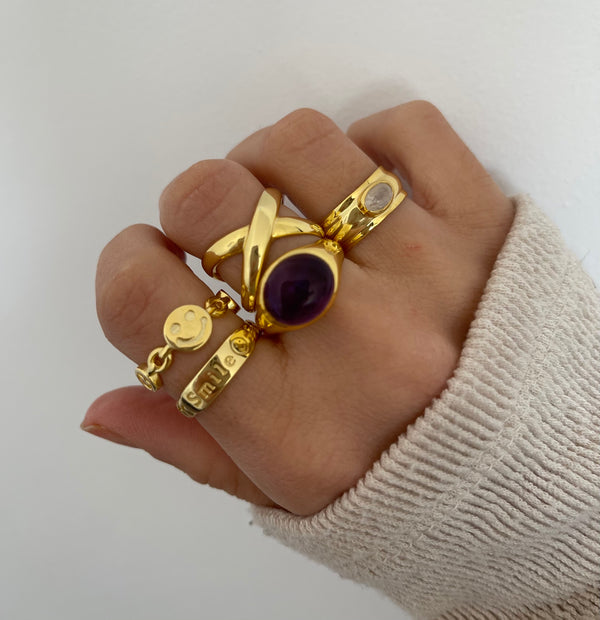 Anillo Ivy Violet Silver