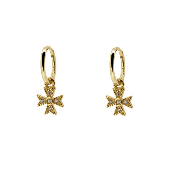 Pendientes Diamond Cross Gold