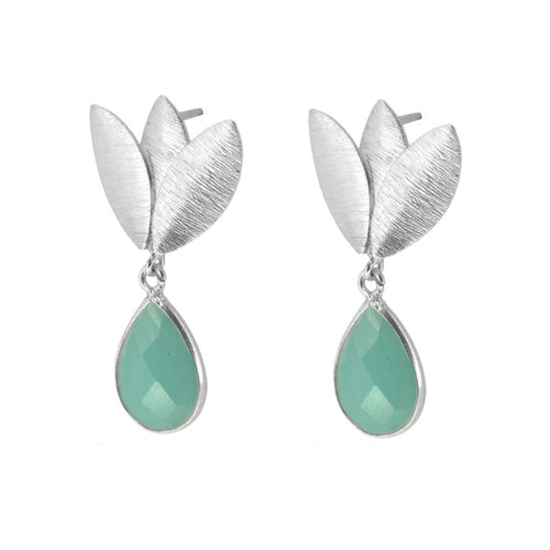 Agora Aqua Silver earrings