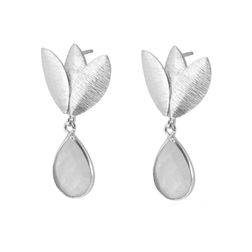 Agora White Silver earrings