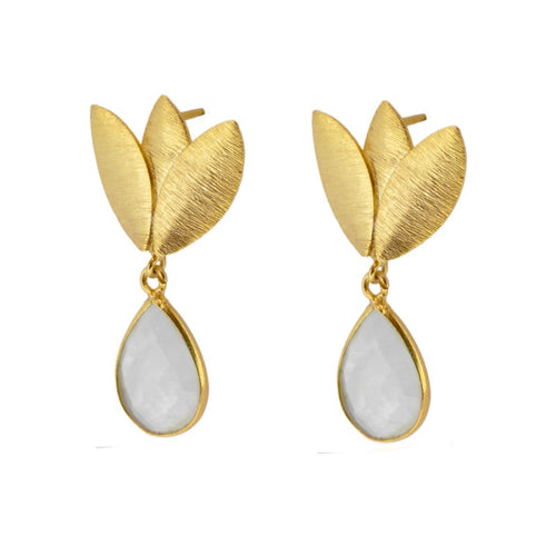 Agora White earrings