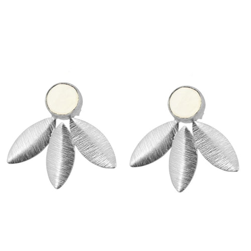 Antonella White Silver earrings