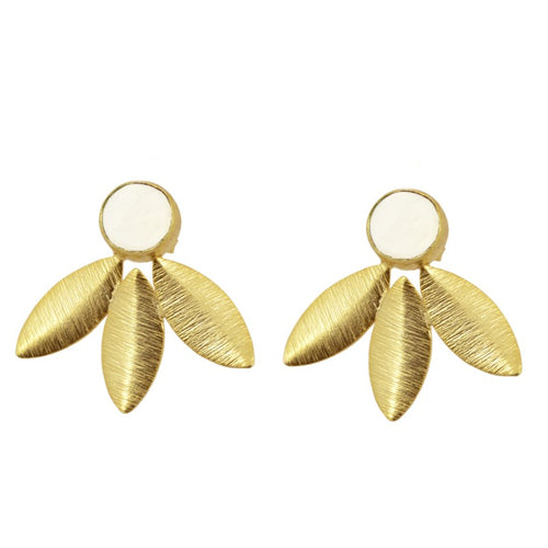 Antonella White earrings
