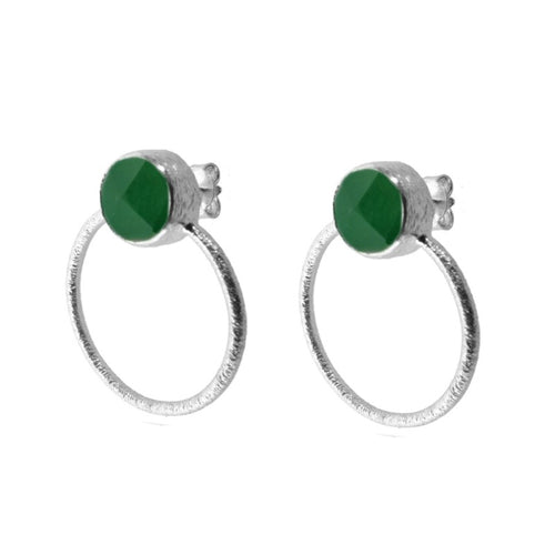 Earrings Stone Green Earrings