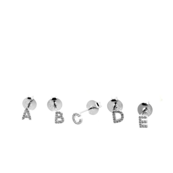 Mini Letter Earrings Silver9