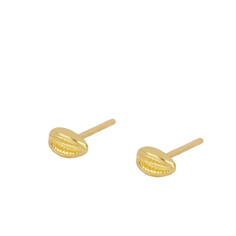 Gold Mini Shell Earrings