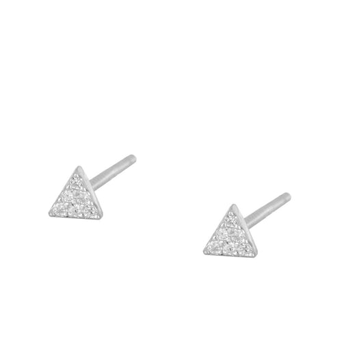 Earrings Triangle Mini Silver