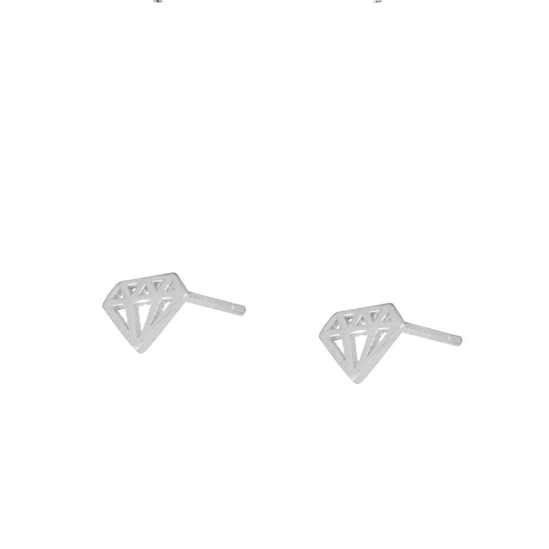 Pendientes Mini Diamond Silver
