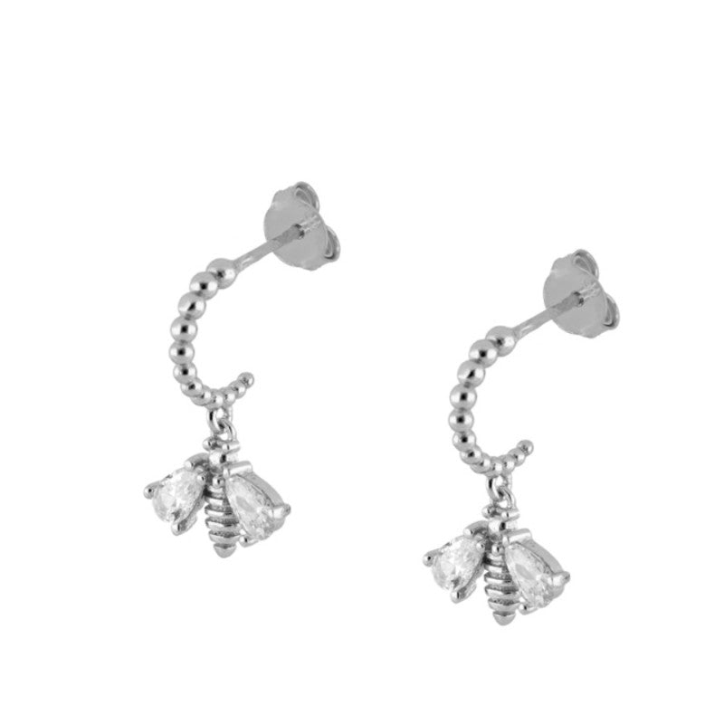 Pendientes Brilliant Bee Silver