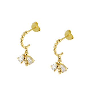 Pendientes Brilliant Bee Gold