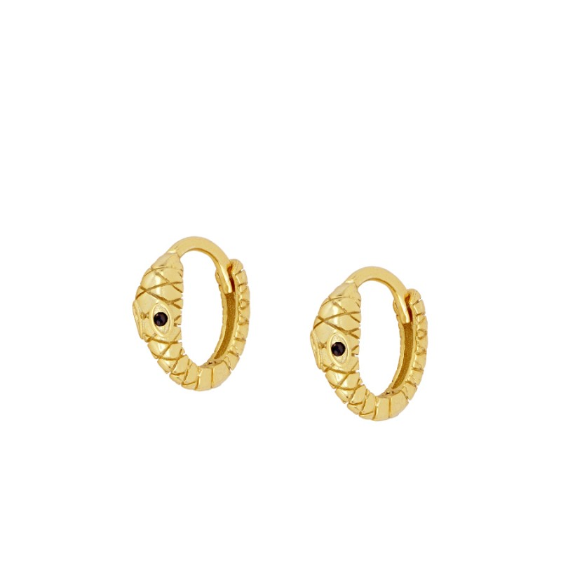Earrings Snake Gold Hoop
