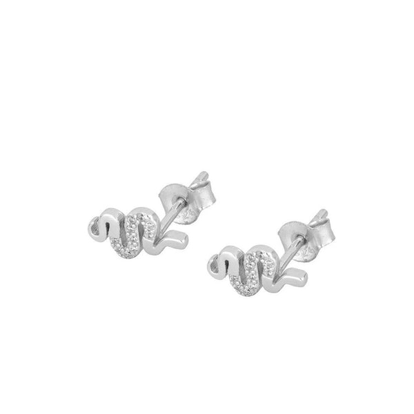 Pendientes Cool Snake Silver