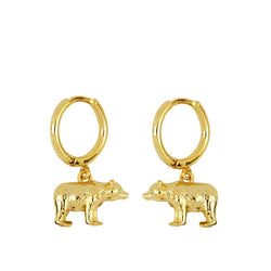 Bear Gold Earrings