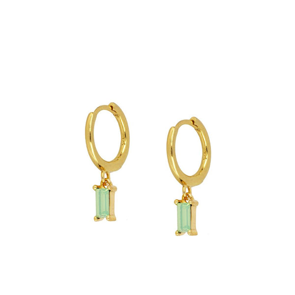 Pendientes Crystallis Green Gold