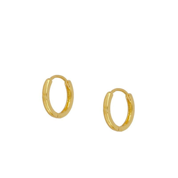 Mini Croix Hoop Earrings