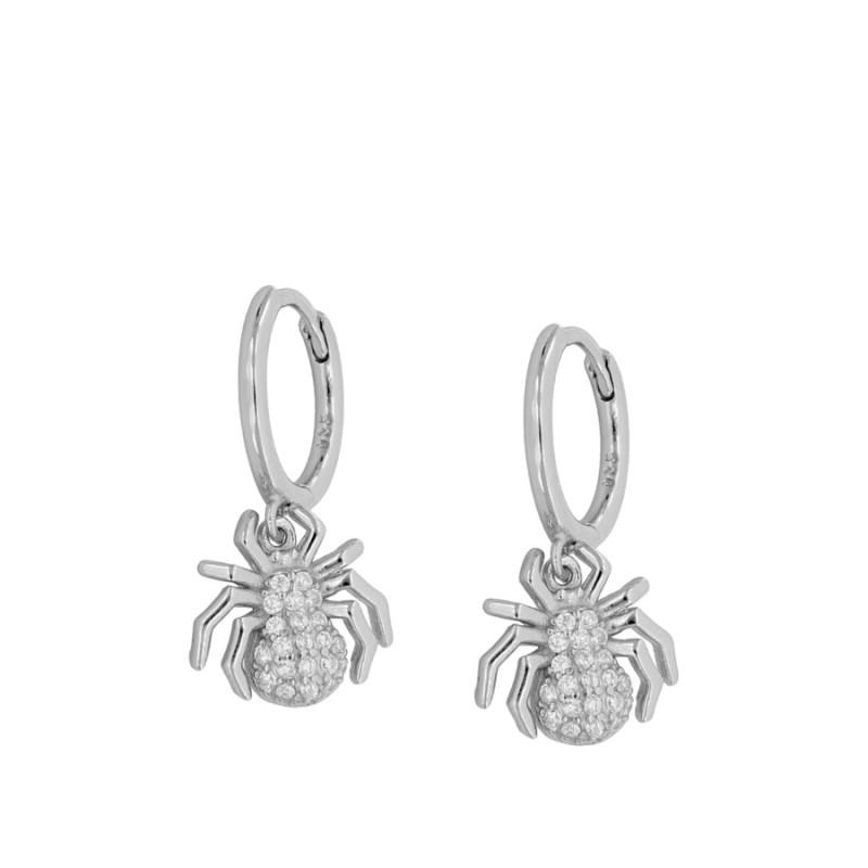 Shine Spider Silver earrings