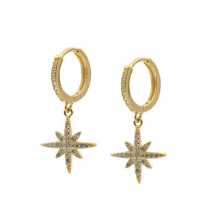 Pendientes Star Shine Gold