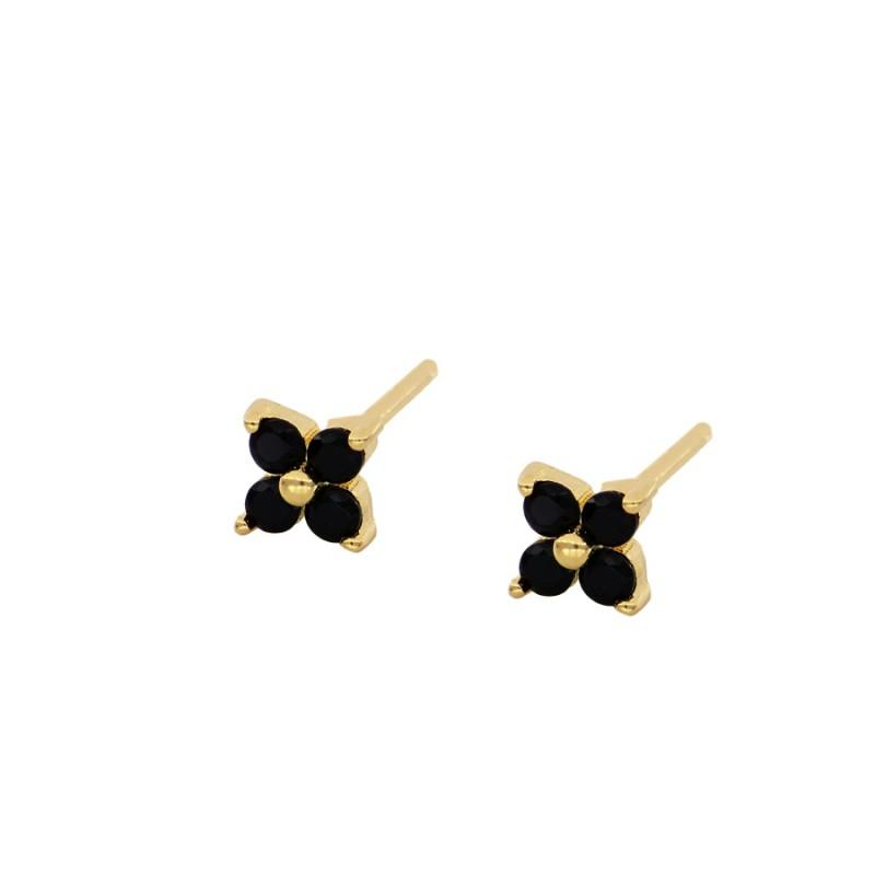 Earrings Love Black Gold