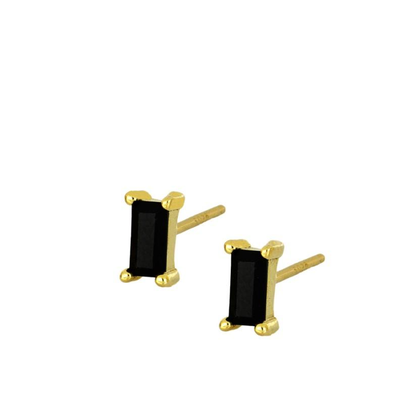Earrings Cristaly Black Gold