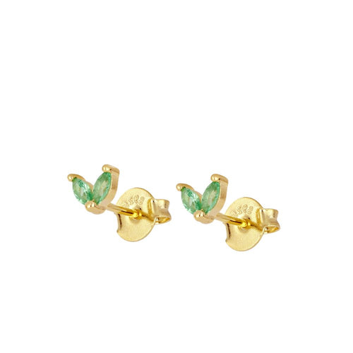 Bombai Green Gold Earrings