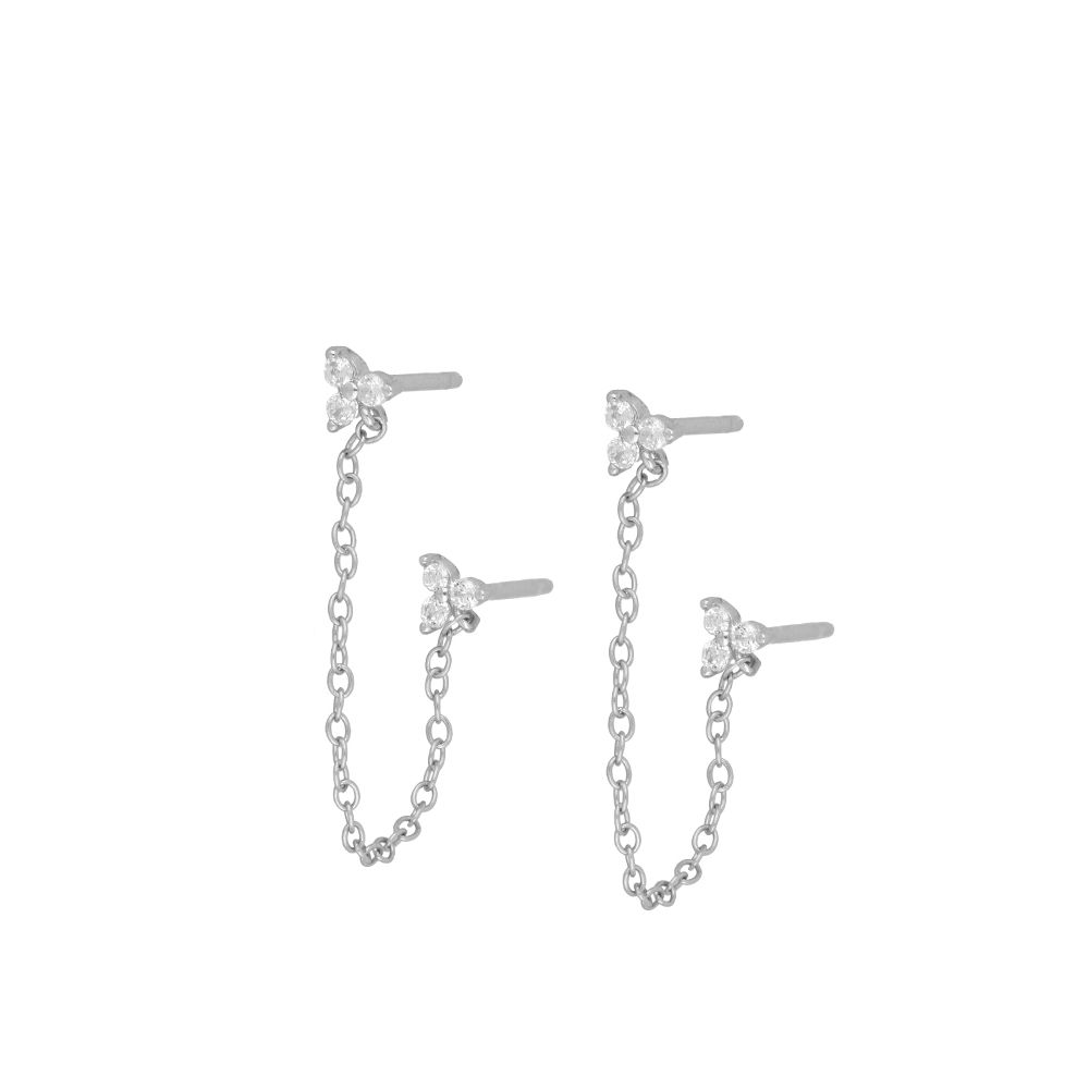 Chain Fiorella Silver Earrings