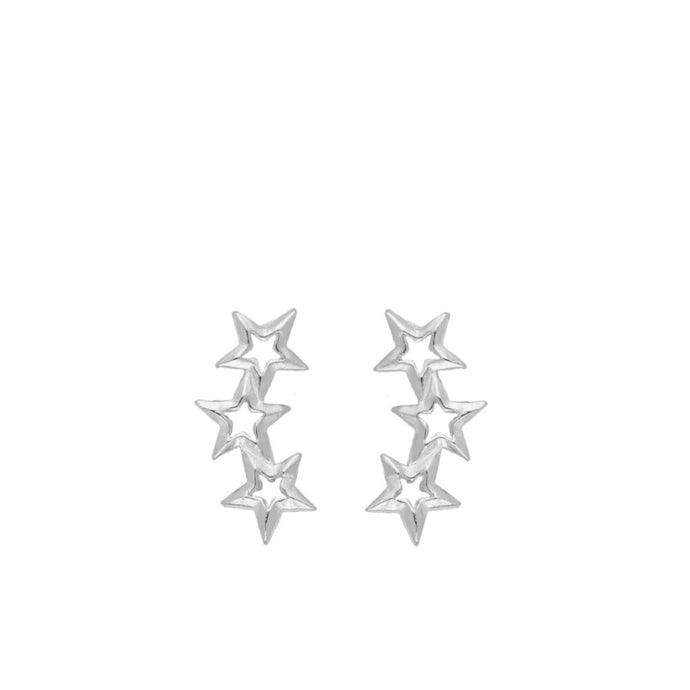 Mix Star Silver Earrings