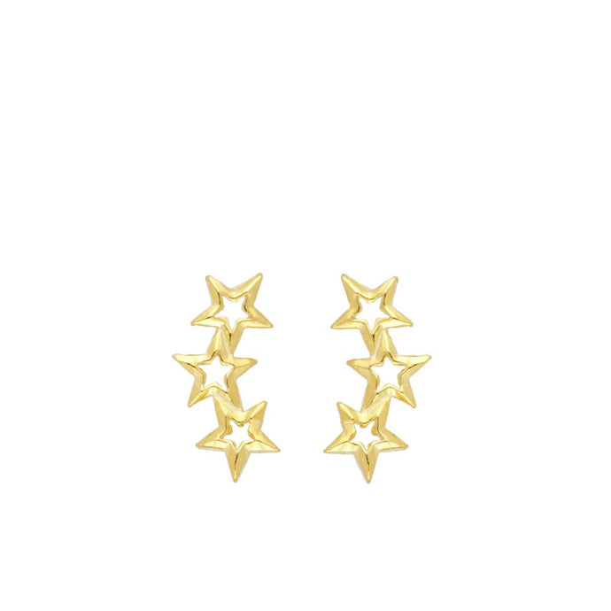 Mix Star Gold Earrings