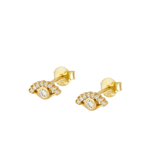 Brille Eye Gold Earrings